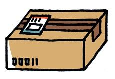 宅配便の荷物
