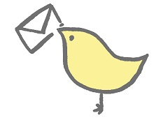 手紙を運ぶ鳥